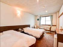 *【洋室ツインルーム】全室、洗浄機付トイレを完備