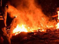 【新治神社のたいまつ祭り】オタッチョ~!!迫力&勇壮&燃え上がる火柱!生地ローカルのお祭りへGO♪