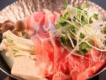 ◆安曇野豚しゃぶしゃぶ他、信州の食をお楽しみいただけます