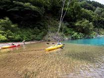 ◆奥木曽湖カヌー体験 車で約30分
