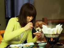 ◆【ご夕食】わんことご家族だけの楽しい夕食のお時間をお過ごしください。