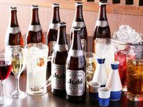 ・【 飲み放題付 】プラン♪アルコールが70分飲み放題♪1泊2食バイキング付