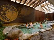 相模亭1F大浴場の露天風呂