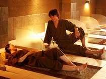 【岩盤浴】男女共用と女性専用を完備