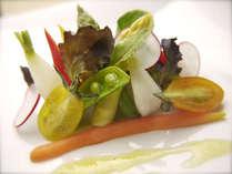 【フレンチ】料理イメージ 旬や鮮度にこだわる野菜ソムリエの力作