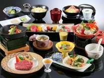 【和洋両方が愉しめる和洋会席】国産牛陶板焼きと季節のカルパッチョ