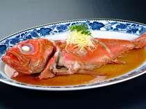 【1品料理】金目鯛の煮付けです。約900gの巨大サイズ! (大) 5,800円 (半身)3,240円