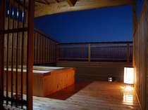 露天風呂 夜景。