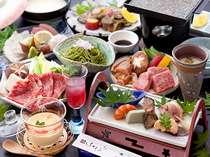 ★厳選食材&地産地消、地鶏と豊後和牛ステーキの、贅沢三昧懐石をご堪能いただきます
