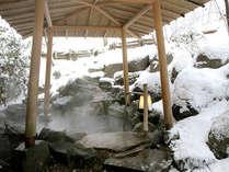 冬には雪見露天も。