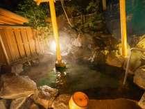 【東館B1・無料貸切露天風呂・「水天宮の湯」しらかば】是非半身浴でゆっくりとお入りください。