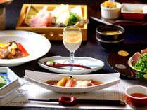 【個室食】3種の貸切風呂と季節の料理を楽しむスタンダード会席☆メインは<熟成肉のステーキ>