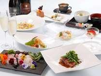 【夕食一例】毎月変化するコースディナーとイタリア直輸入スプマンテ「プロセッコ」をご堪能下さい