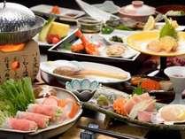 【白ゆりポークしゃぶしゃぶプラン 夕食膳(一例)】
