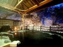 【女性専用露天風呂「せせらぎの湯」】露天風呂から望む冬景色は格別。
