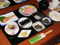 朝食の一例,千葉県,旅館一蘭荘