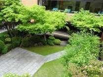 3階緑溢れる庭園は都会のオアシス