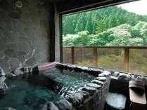 客室露天風呂(一例)