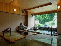 【古代檜風呂と岩風呂】女性内湯