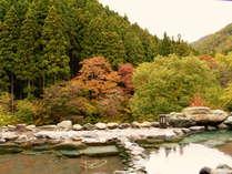 【水上山荘の四季~紅葉】露天風呂