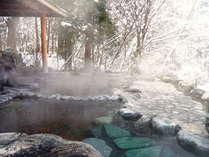 【露天風呂】圧巻の雪景色