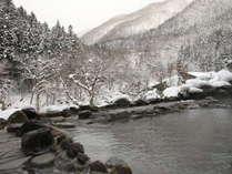 【男性露天風呂】雪景色