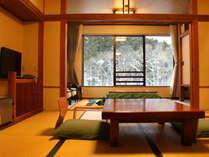 【C】スタンダード客室 雪景色(一例)