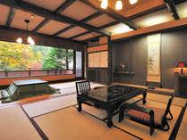 谷川岳を望む源泉かけ流し露天風呂付客室/和室10畳+4.5畳(一例)