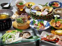 ≪6月~8月≫季節感を大切にした前菜に鮑のしゃぶしゃぶなど「夏の味覚会席」