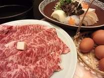 上州牛を贅沢に大鍋のすき焼で
