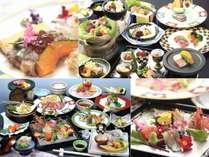 自然が育んだ滋味豊かな食材のみで調理する当館調理長こだわりの美食会席。