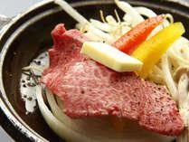 ≪氷見牛の陶板焼き≫わさび・塩・ポン酢よりお好みでどうぞ