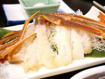 ◆お食事例◆地物タグ付き活蟹の蟹刺し!