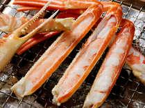 ◆お食事例◆本ずわい蟹は焼き蟹にしても甘みが増して美味しいです