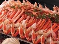 北海道フェアでは旬のずわい蟹が無料で食べ放題