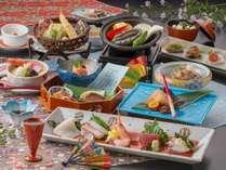 【春夏の基本会席】プリプリッ!あわびの踊り焼き&新鮮なお造りなどをレストラン「季の蔵」にて♪