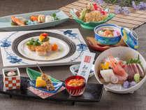 【料理】レストラン「季の蔵」春夏のお値打ち会席(2018年4月から2018年9月までの献立例)<イメージ>