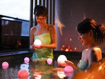 アロマの香る、キラキラ☆ジェリーフィッシュVerの露天風呂♪『星のおさんぽ』にてお楽しみいただけます