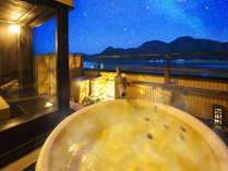 【城崎温泉で、1番、星に近い貸切露天風呂】をコンセプトにした、景観抜群の露天風呂は計2種。