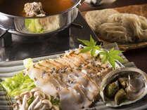 """【鮑しゃぶしゃぶ懐石】""""若狭牛のテールスープ""""と""""鮑""""の饗宴~美食と美湯に心和む一時~"""