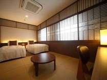 夏目漱石をイメージしたジャパニーズテイストツイン。ご家族ご友人と快適にお過ごしください。