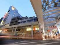 """熊本市の中心繁華街""""下通り""""へ徒歩0分。観光・ビジネスは勿論、お食事や買い物にも最適♪"""