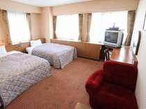 スタンダードツインルーム【例】 広さ26.3平米 ベッドサイズW130×H194