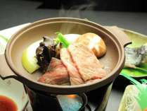 夕食-国産和牛の陶板焼き【お料理 グレードアップ】