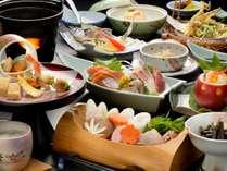青森県の食材にこだわった一つひとつ丁寧に手作りされた夕食一例