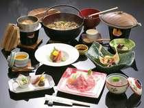 鉄板焼きのお肉が選べる大人気の七兵衛膳 調理例