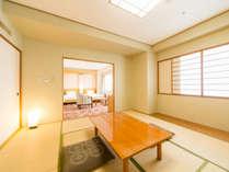 和洋室。和室と洋室の二間続きで、45平米の広々設計!