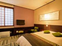 【ダブルルーム】1~2名様でご利用いただけるダブルルーム。室内でのインターネット接続も可能です!