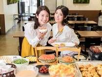 種類豊富な朝食ビュッフェ♪(6:00-9:30)博多名物の明太子を5種類ご用意!