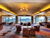 【ロビー】 全面ガラス張りの開放的な絶景ロビーは錦江湾を見渡すことができる♪